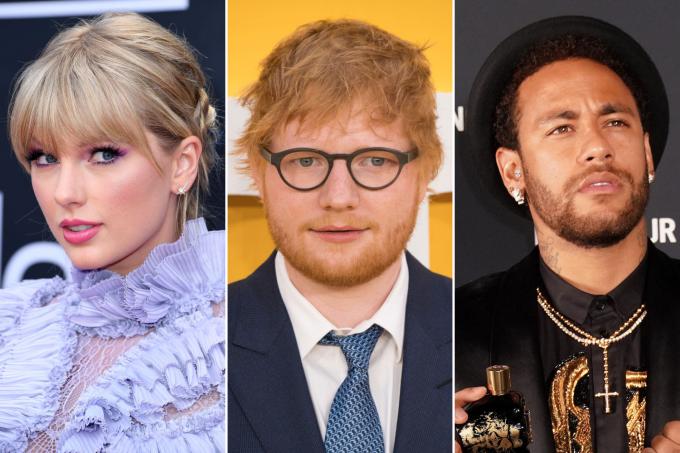 Taylor Swift, Ed Sheeran e Neymar estão na lista das 10 celebridades mais bem pagas do mundo