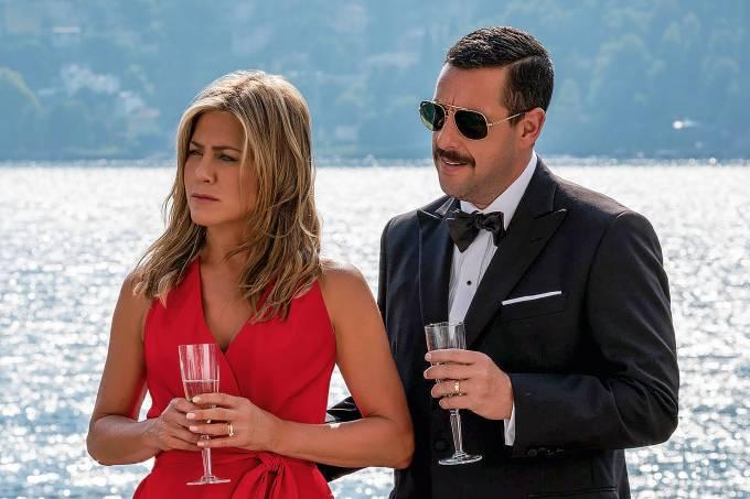 MISTÉRIO NO MEDITERRÂNEO – 73 milhões de visualizações: Um casal vivido por Adam Sandler e Jennifer Aniston precisa desvendar uma série de mortes no iate de um ricaço