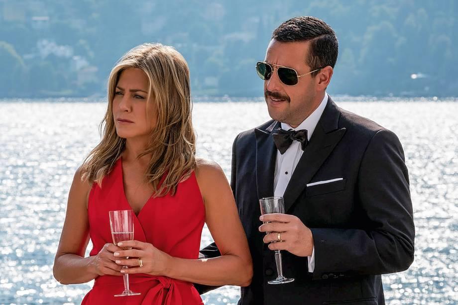 'MISTÉRIO NO MEDITERRÂNEO' (73 milhões de visualizações) - Um casal vivido por Adam Sandler e Jennifer Aniston precisa desvendar uma série de mortes no iate de um ricaço