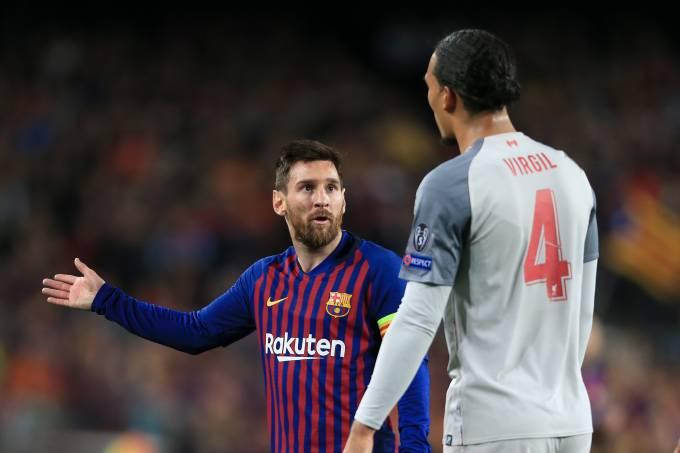 Lionel Messi e Virgil Van Dijk, dois candidatos ao prêmio The Best