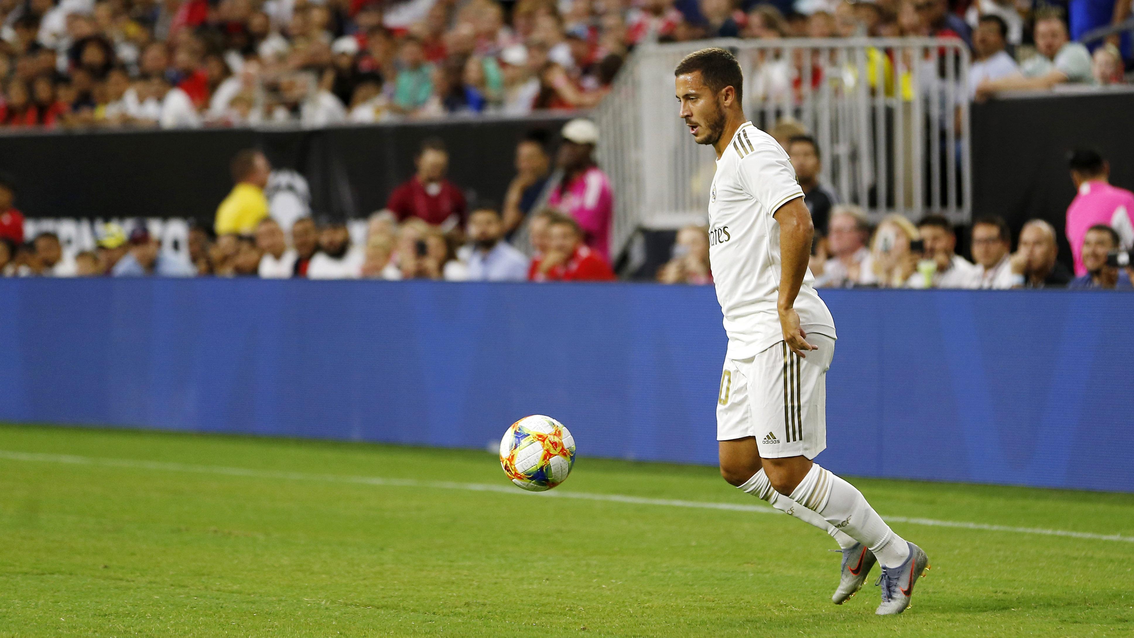 Eden Hazard, durante pré-temporada do Real Madrid