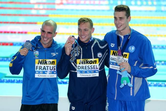 Bruno Fratus, Kristian Gkolomeev e Caeleb Dressel