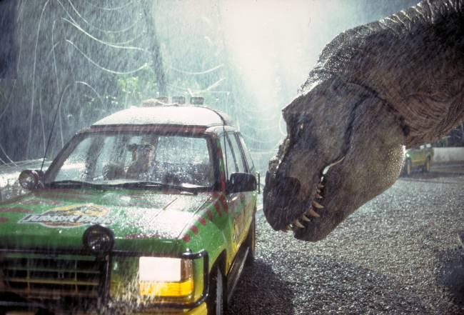 Cena do filme 'Jurassic Park', de 1993
