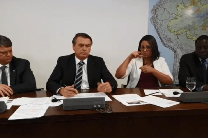 Live semanal de Bolsonaro nas redes sociais