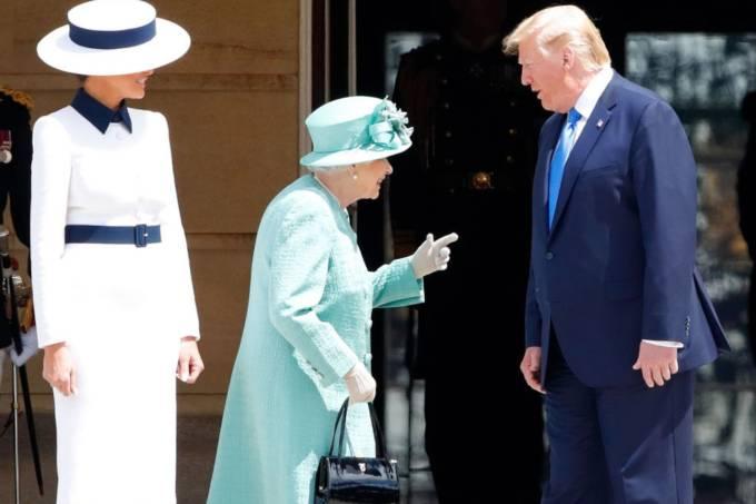 Melania Trump, Elizabeth II e Donald Trump