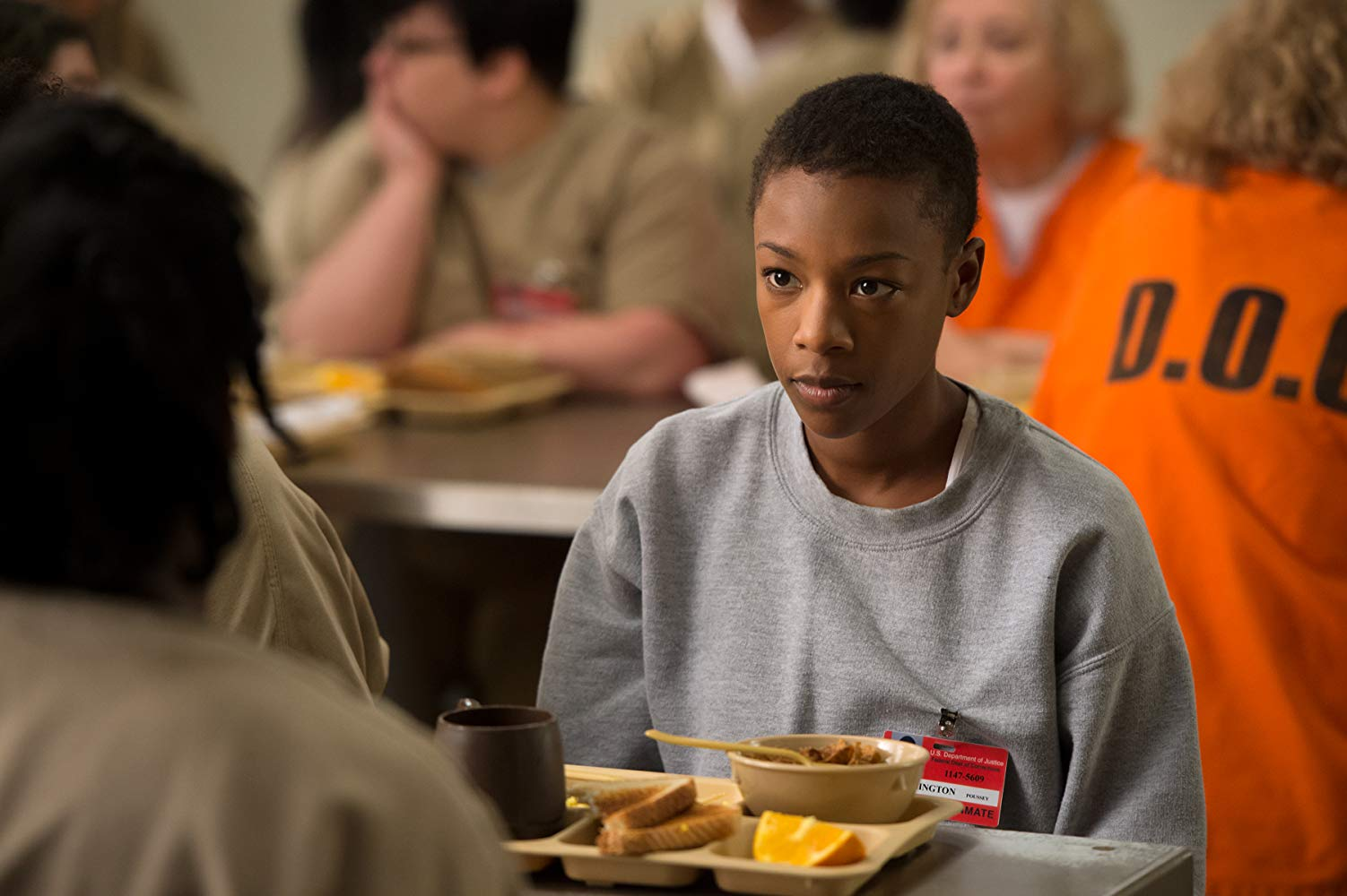 Poussey Washington, personagem vivida por Samira Wiley em 'Orange Is The New Black'