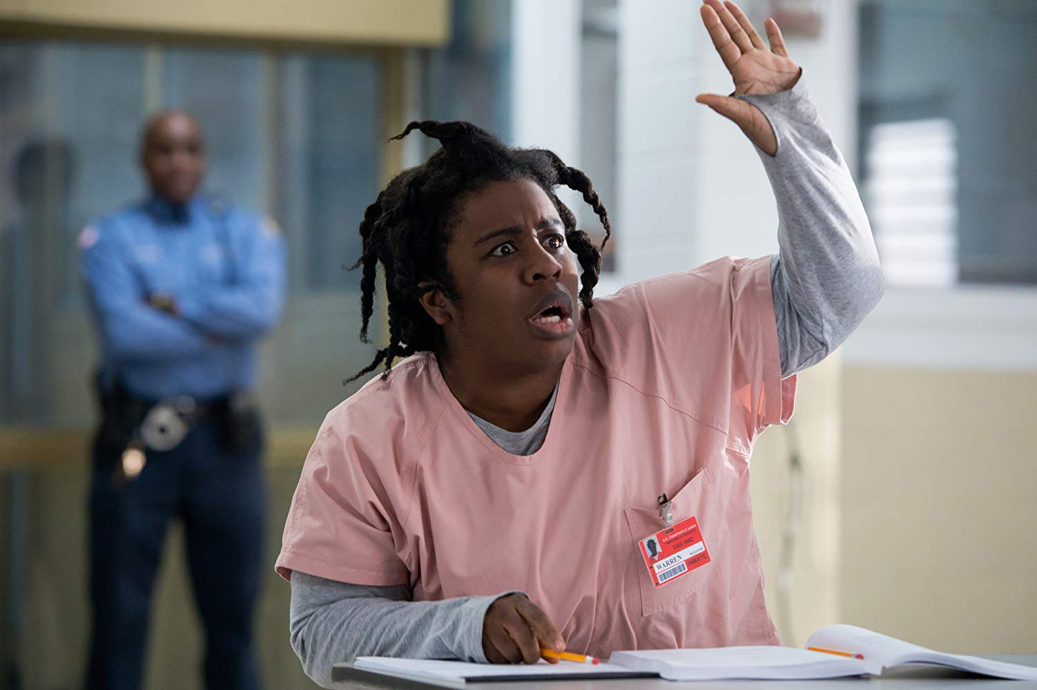 Uzo Aduba como Crazy Eyes em 'Orange Is The New Black'