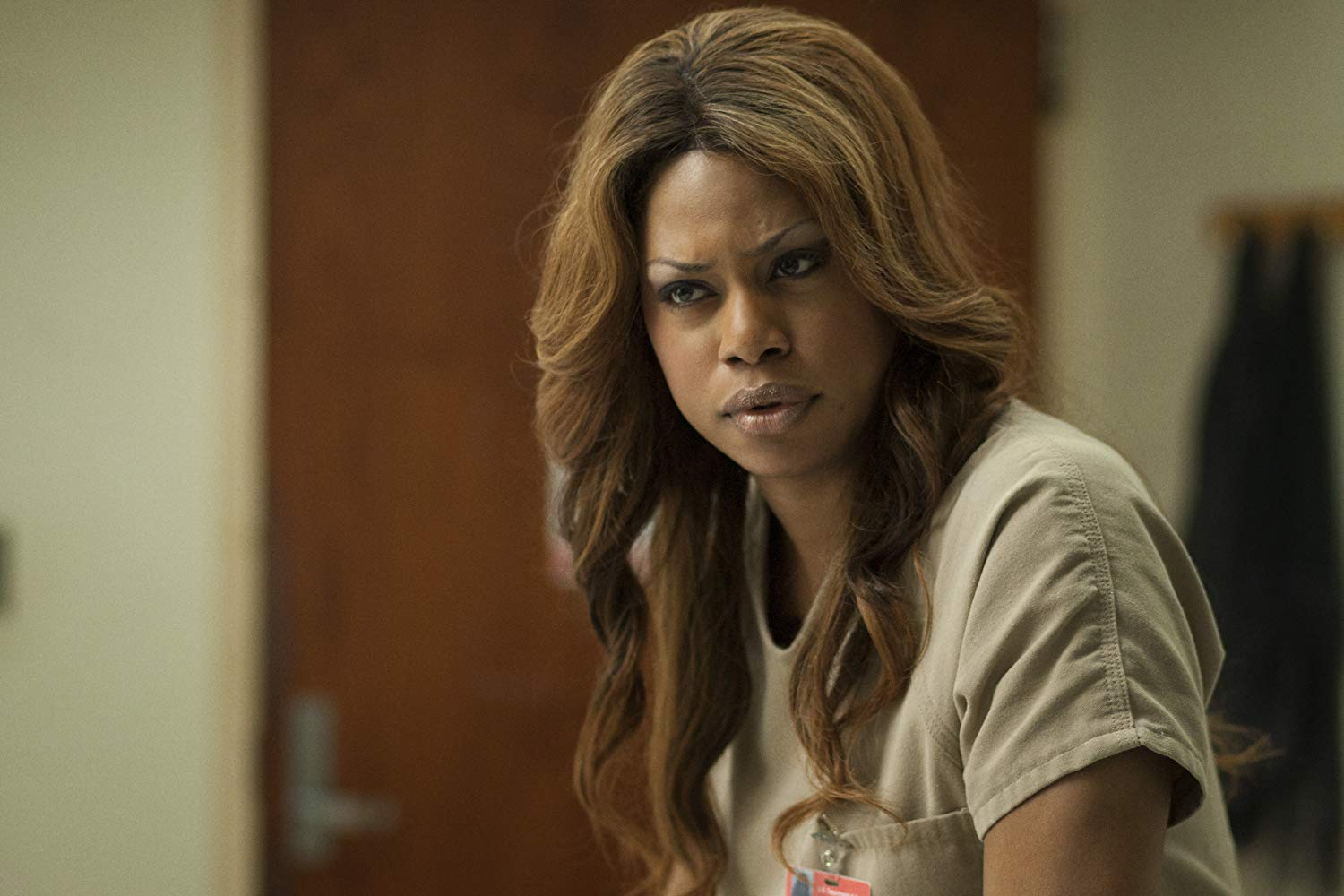 A atriz Laverne Cox como a detenta Sophia Burset em 'Orange Is The New Black'