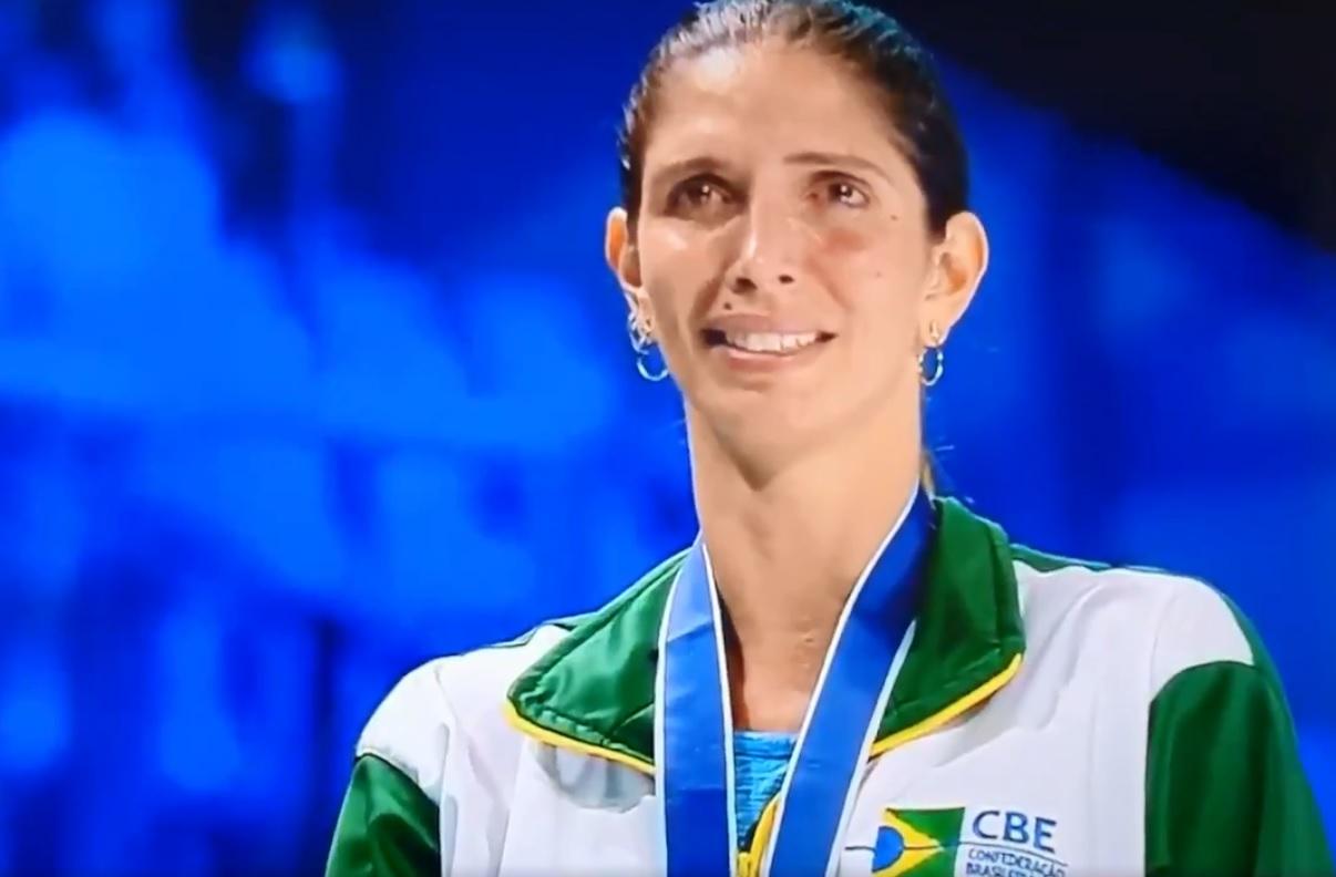Nathalie Moellhausen, atleta brasileira da esgrima
