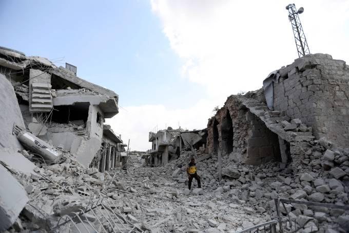 Bombardeios na província de Idlib, Síria
