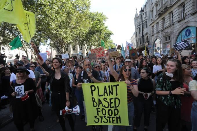 Protesto pela preservação da Amazônia em Londres
