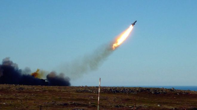 Teste de míssil russo