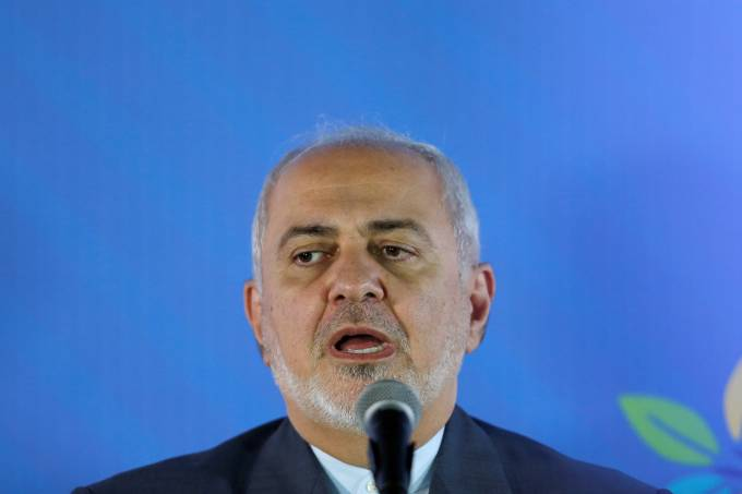 O ministro das Relações Exteriores do Irã, Mohammad Javad Zarif
