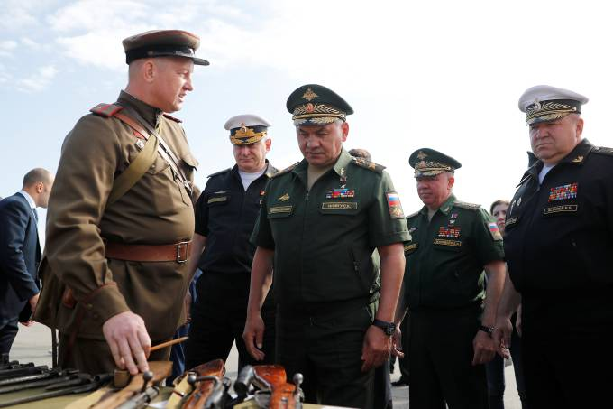 Russian Defence Minister Sergei Shoigu attends the International Army Games 2019 in Kaliningrad Region