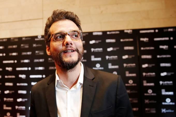 O ator e diretor Wagner Moura no 15º Festival Internacional de Cinema de Santiago (Sanfic)