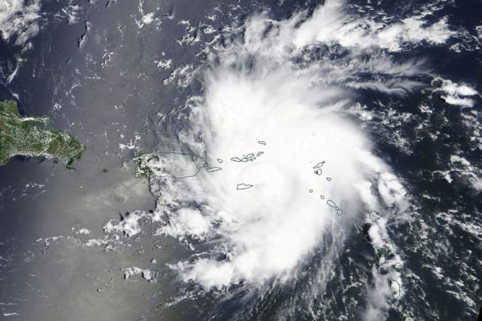 Handout photo of Hurricane Dorian is shown as it nears St. Thomas and the U.S. Virgin Islands