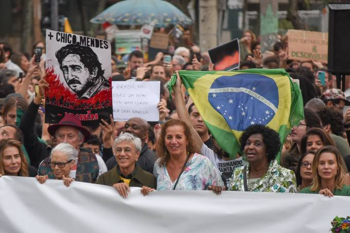 Protesto a favor da Amazônia na Orla de Ipanema, Rio