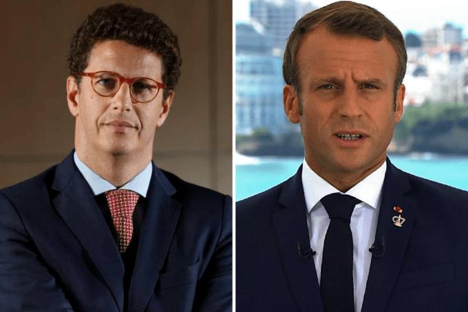 Ricardo Salles e Emmanuel Macron