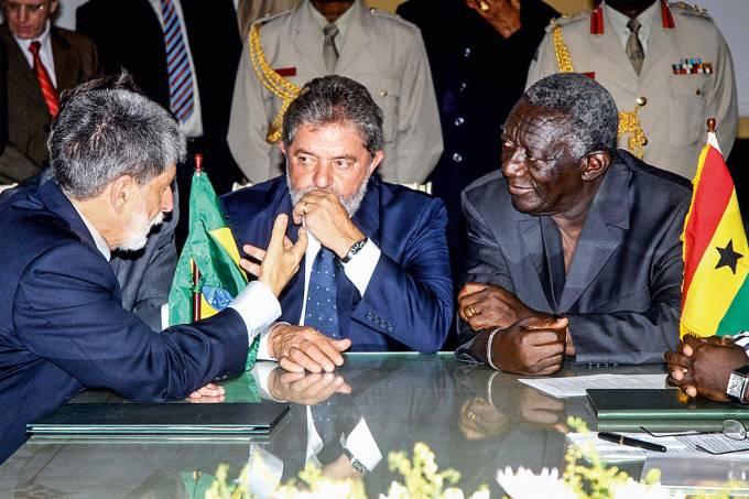 Celso Amorim, Lula e John Kufuor