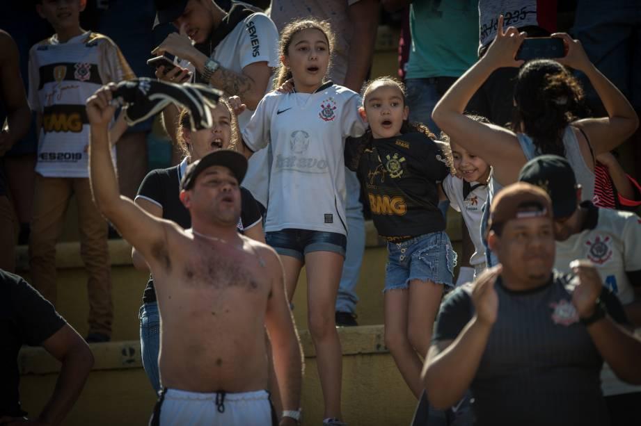 Torcida do Corinthians marcou presença na partida