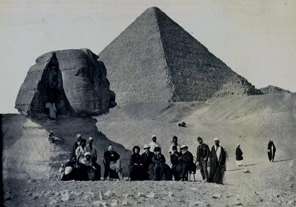 D. Pedro, d. Teresa Cristina e sua comitiva no Egito