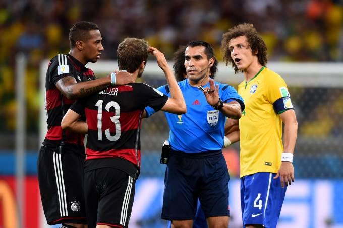 Marco Rodríguez em seu último jogo como árbitro, a goleada da Alemanha por 7 a 1 sobre o Brasil na Copa do Mundo de 2014