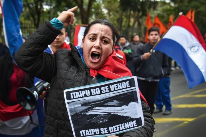 Protesto em Assunção