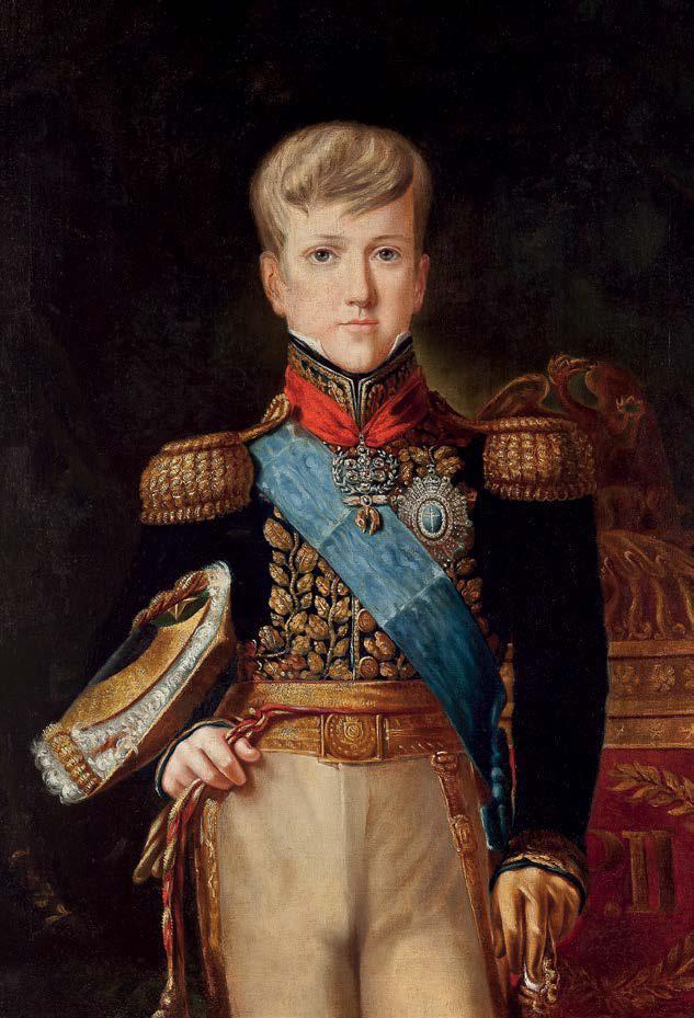 D. Pedro II pouco depois de completar 10 anos de idade. Félix Émile Taunay, 1837. o.s.t.