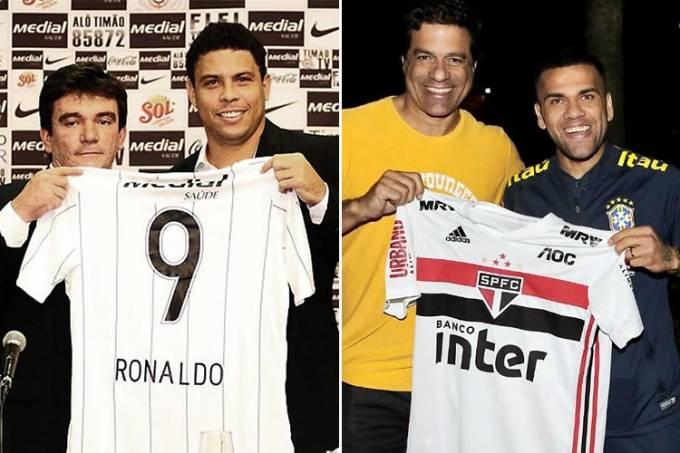 Ronaldo e Daniel Alves