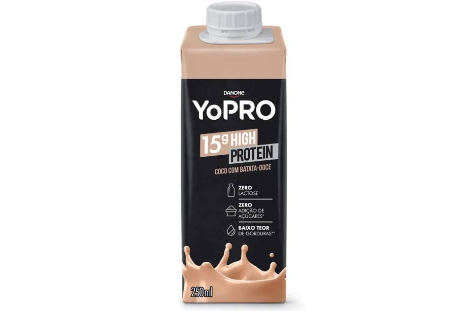 Proteína adicional (YopRo) - Iogurte com adição de proteínas — em quantidade equivalente à contida em dois ovos cozidos