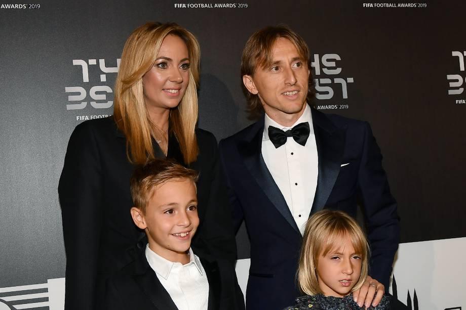 Modric no prêmio The Best FIFA, em Milão