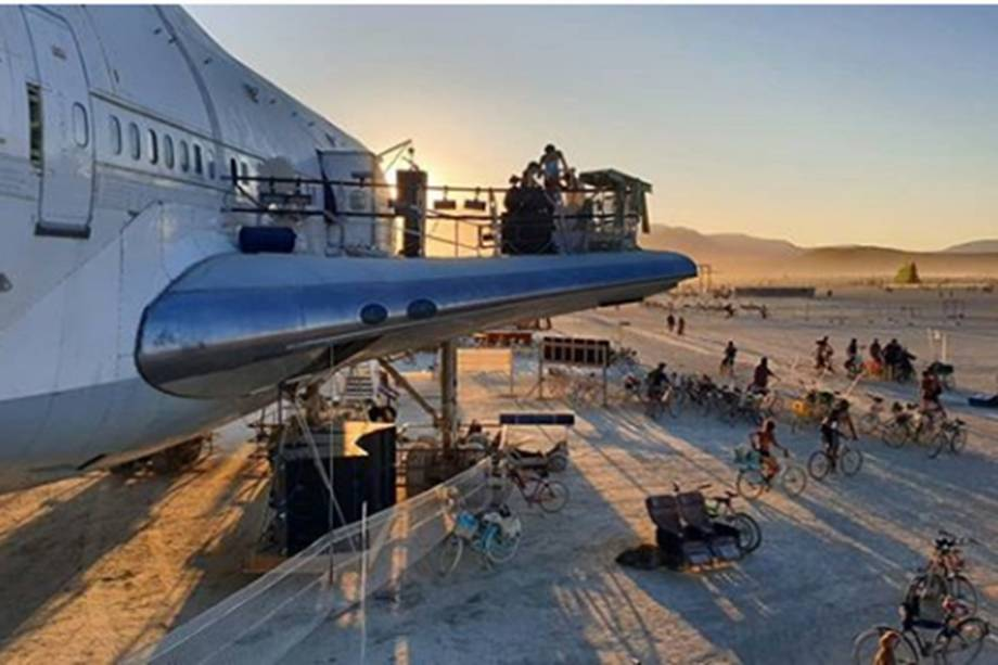 Festival Burning Man 2019 realizado no deserto de Black Rock, em Nevada, nos EUA