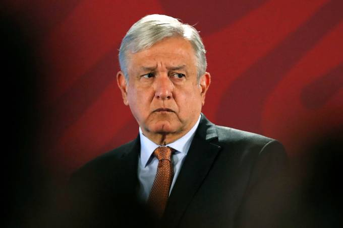 Mexico's President Obrador attends a news conference in Mexico City
