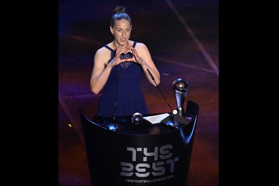 Sari van Veenendaal, vencedora do prêmio de melhor goleira