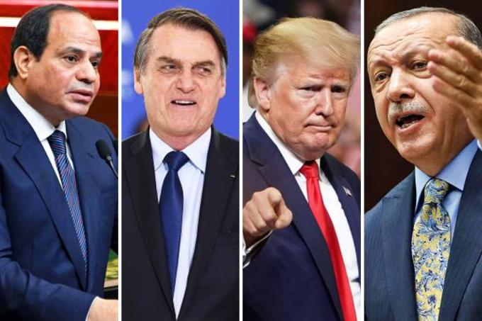 Abdel Fattah al Sisi, Jair Bolsonaro, Donald Trump, Recep Tayyip Erdogan