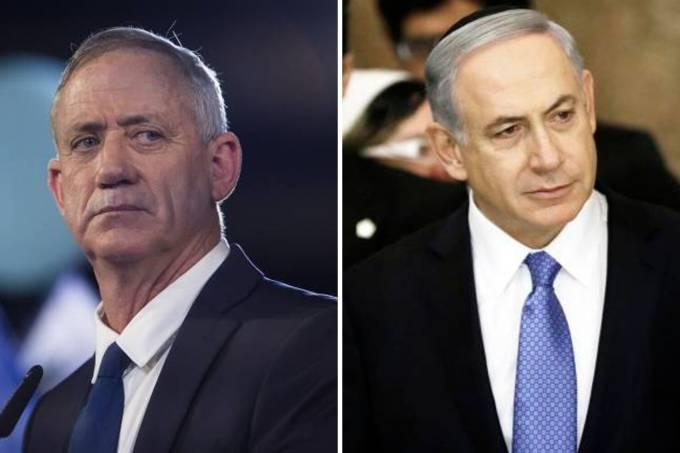 Benny Gantz e Benjamin Netanyahu