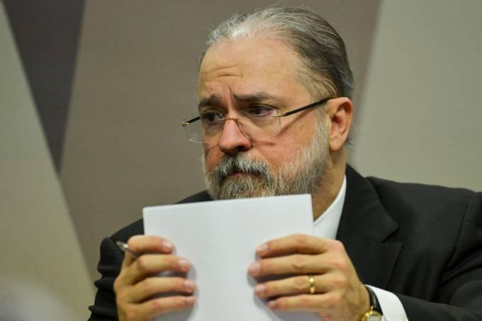 Antônio Augusto Brandão de Aras, indicado para o cargo de procurador-geral da República, durante sabatina na Comissão de Constituição e Justiça (CCJ) do Senado