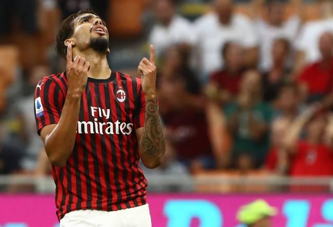 Lucas Paquetá, do Milan, no jogo contra o Brescia