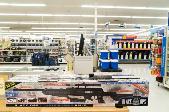 Rifles at Walmart