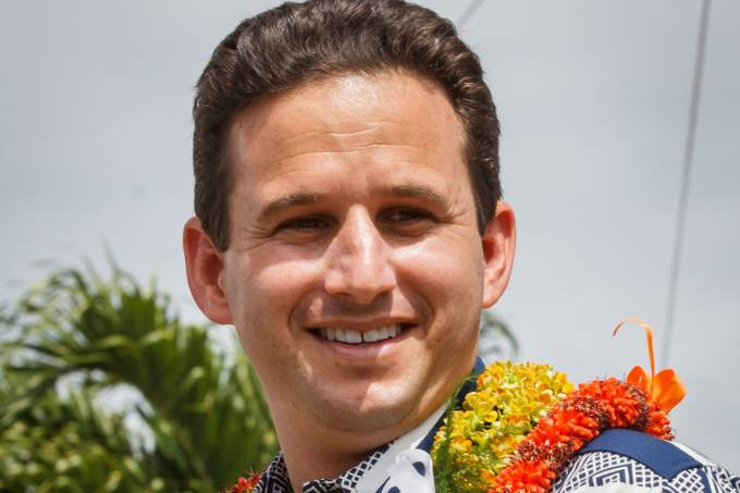 O senador americano Brian Schatz