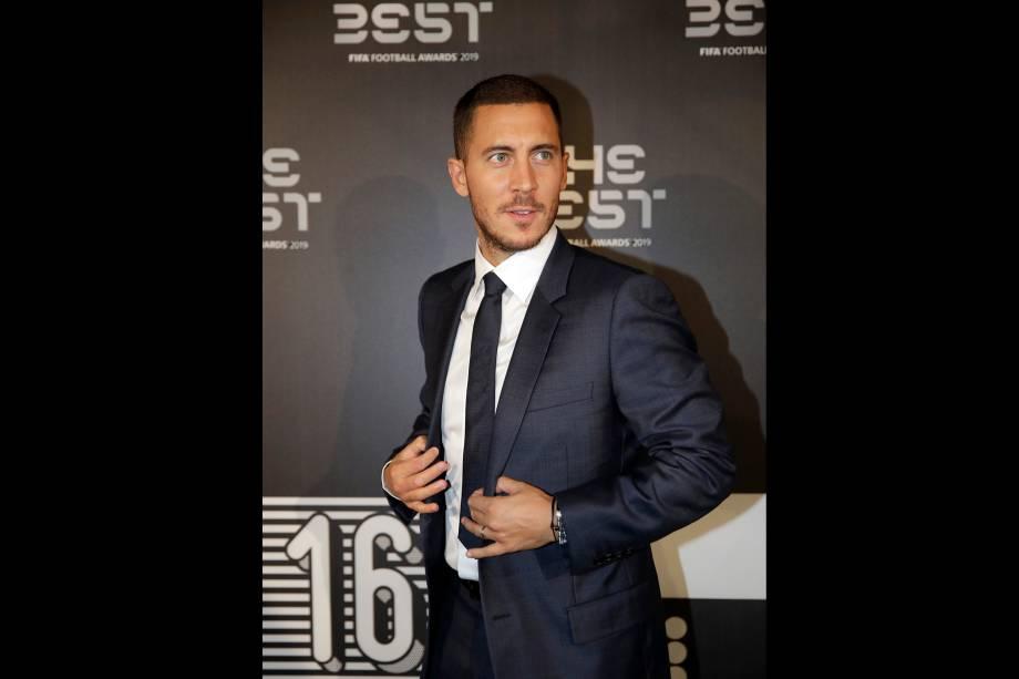 Eden Hazard no prêmio The Best FIFA, em Milão
