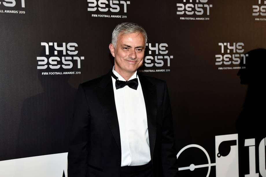 José Mourinho no prêmio The Best FIFA, em Milão