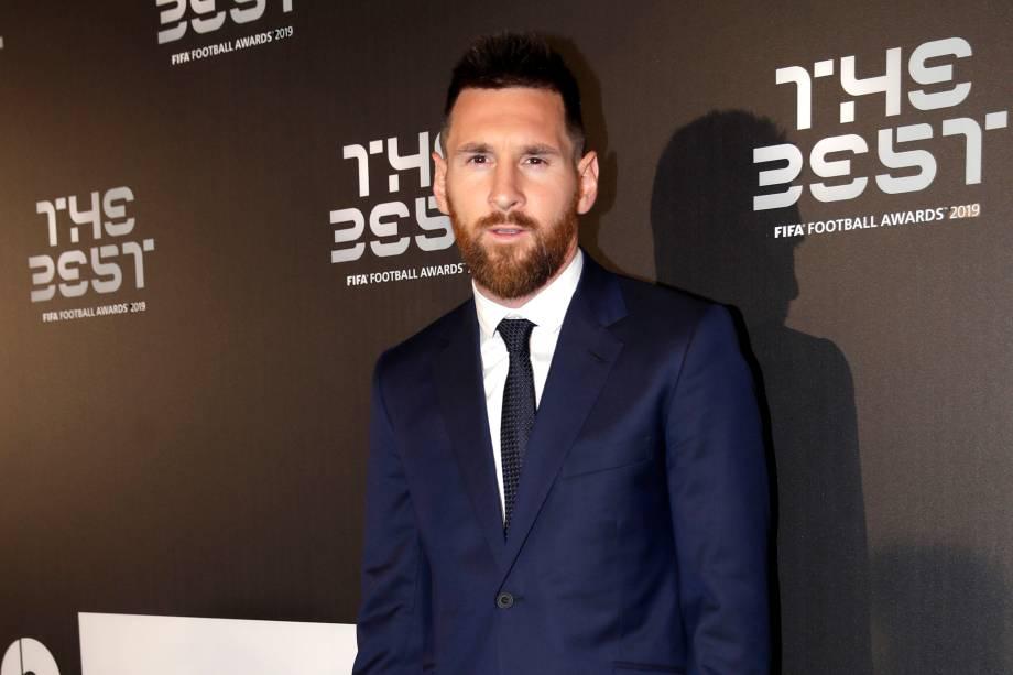 Lionel Messi no prêmio The Best FIFA, em Milão