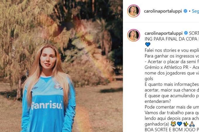 Carol Portaluppi sorteia ingressos no Instagram