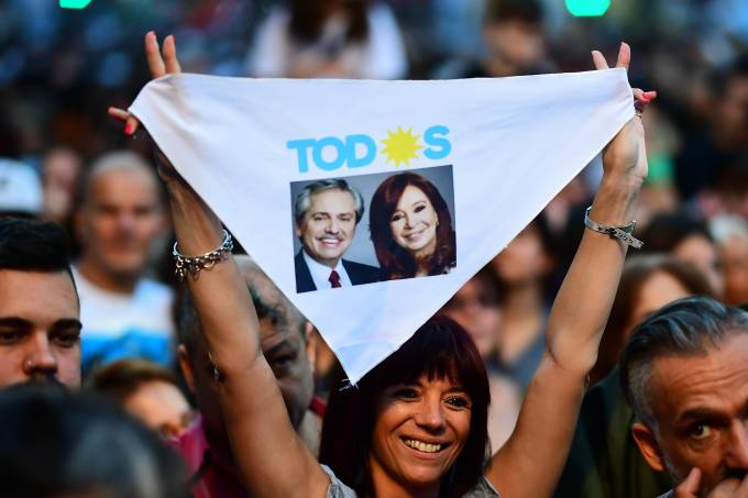ARGENTINA-ELECTION-FERNANDEZ-SUPPORTERS