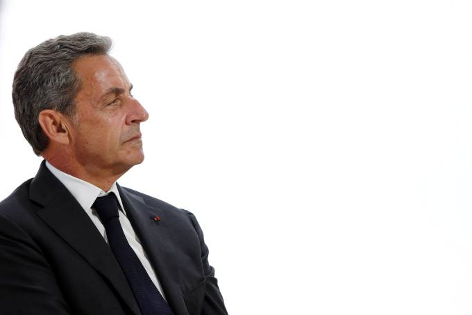 FILE PHOTO: Former French President Nicolas Sarkozy attends the MEDEF union summer forum renamed La Rencontre des Entrepreneurs de France, LaREF, at the Paris Longchamp racecourse in Paris