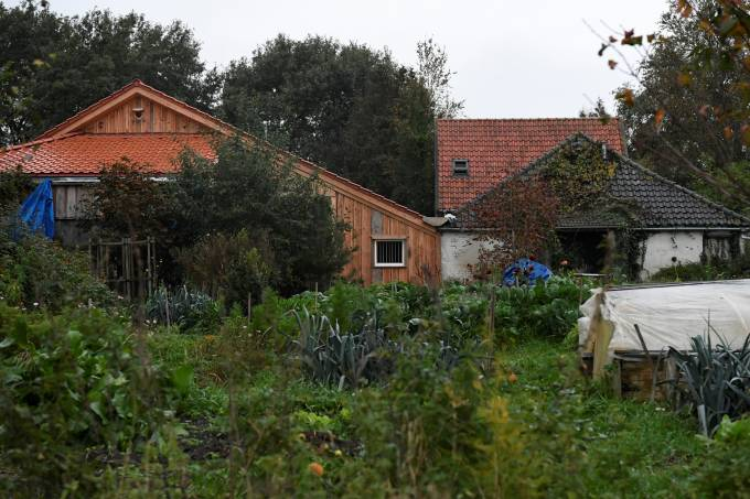 A view of a remote farm where a family spent years locked away in a cellar, according to Dutch broadcasters' reports, in Ruinerwold