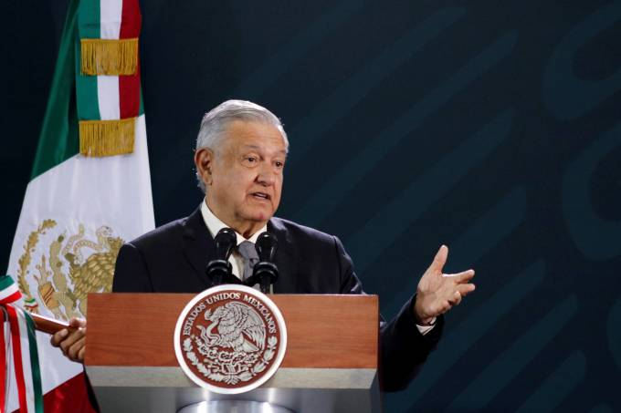 Mexico's President Lopez holds his daily news conference in Oaxaca