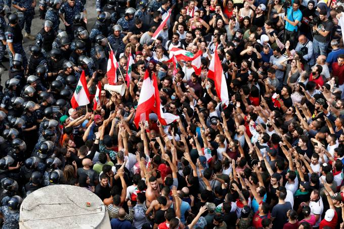 Protest over deteriorating economic situation in Beirut