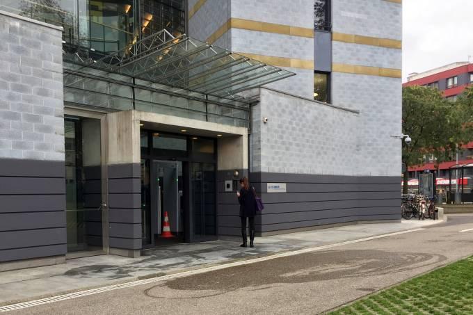 Entrada do prédio do Acnur em Genebra